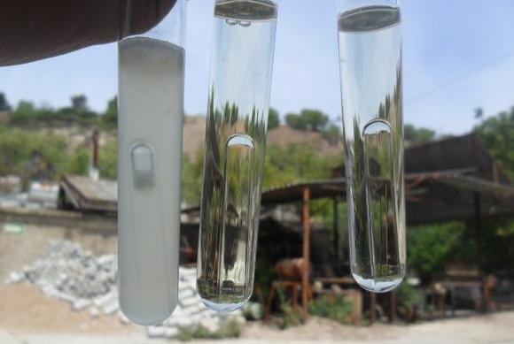 Water quality chroma sampling