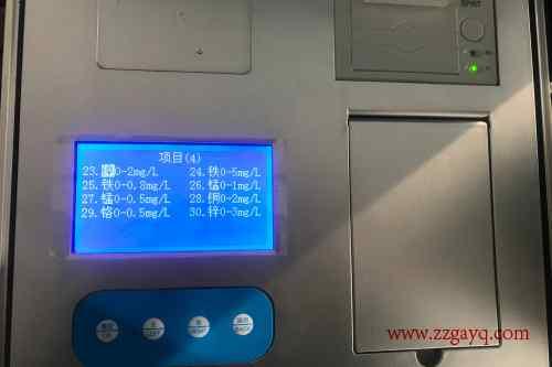 宁夏日常九项水质检测仪